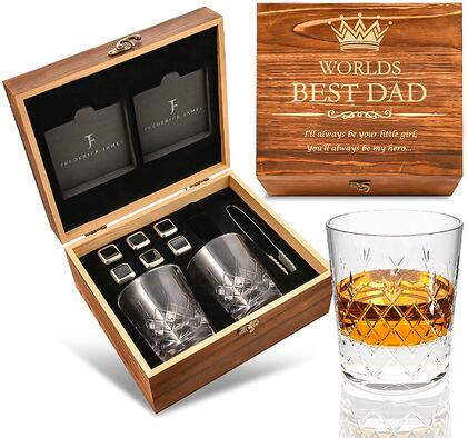 #11 Worlds best dad glass set