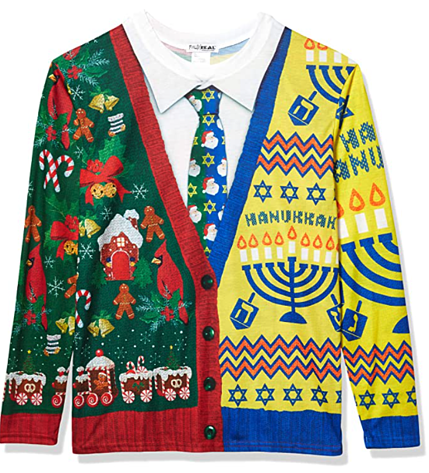 #12 Faux Holiday Christas Hannakuh Sweater