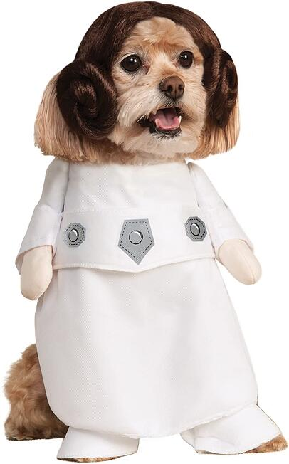 #20 Princess Lea Star Wars dog halloween costume