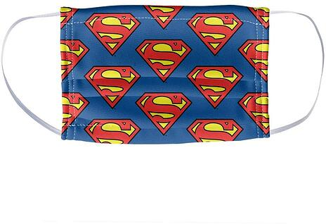 Superman Kids Mask Pattern Face-1