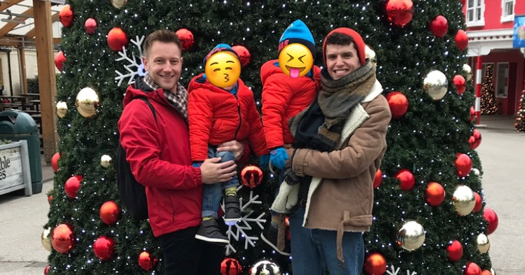 adoption was natural for damien and andrew family at christmas