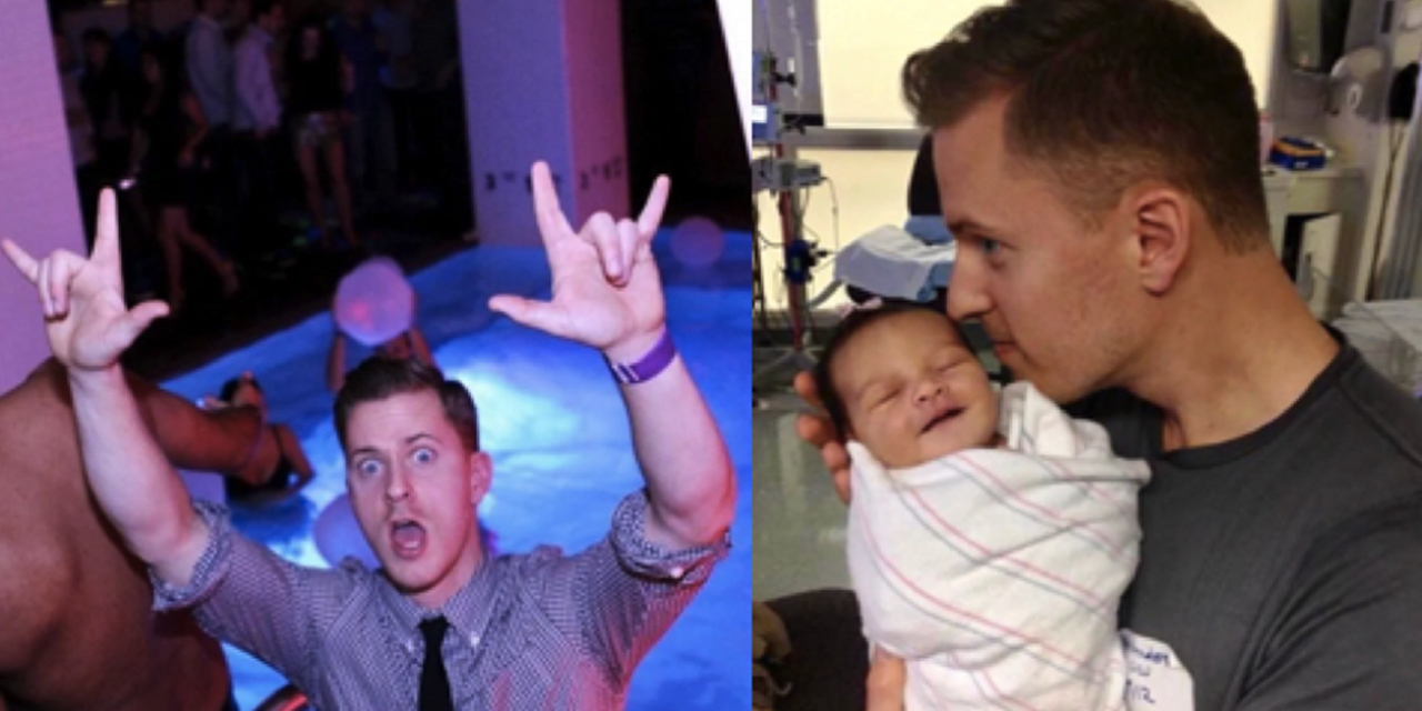 Pics of the Moment Before and After Gay Men Become Dads