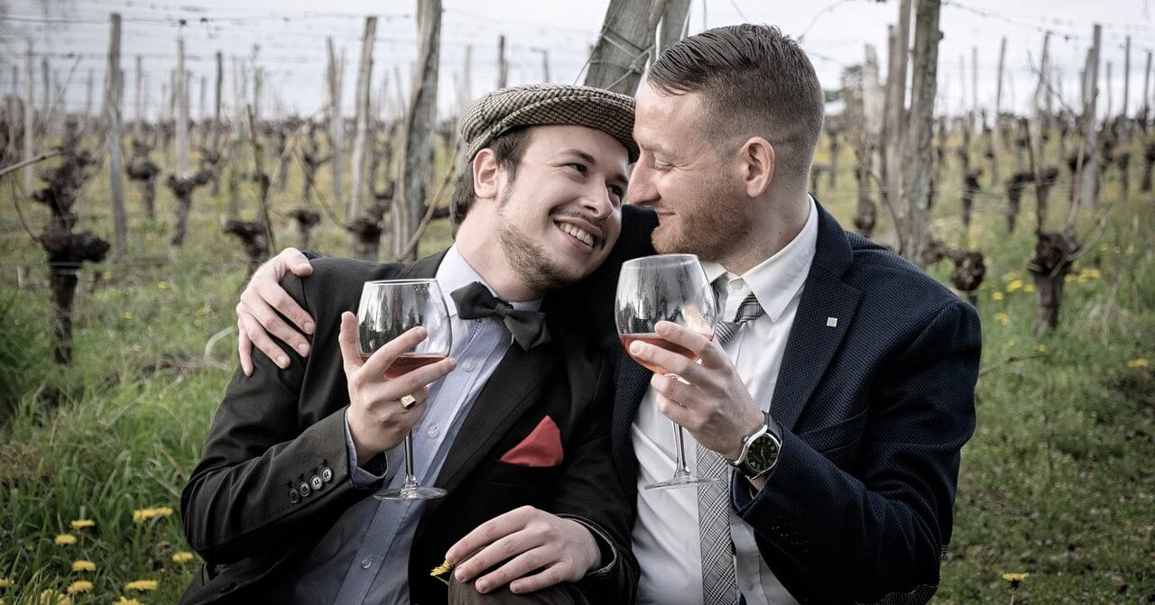 celebrating gay friendly wedding venue together